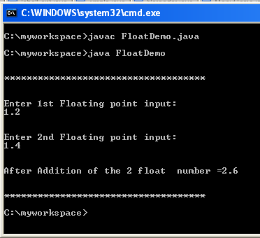 float variable java