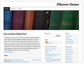 Theme Pilcrow custom header by using css