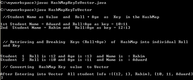 Java HashMap Key Set to String ,Array or Vector Convert: Use