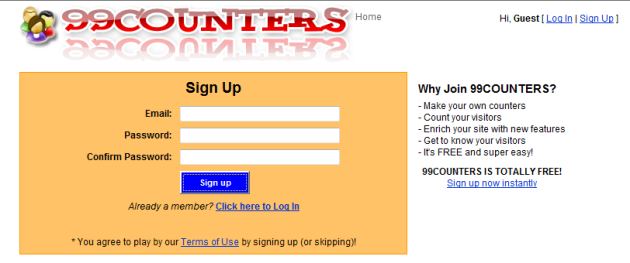 99counters sign up