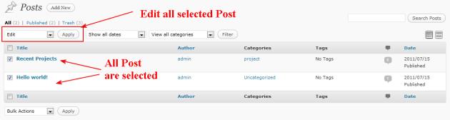 wordpress select all post
