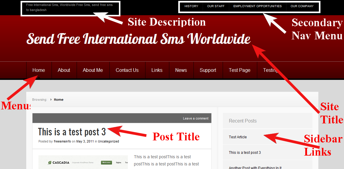 wordpress theme nuntius theme css style sheet modification