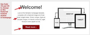 theme responsive by cyberchimps homepage featured content modifications