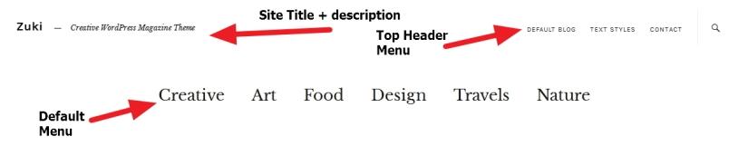 Theme Zuki Header Modification