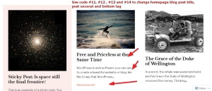 the Rebalance Theme by Automattic homepage post content modification