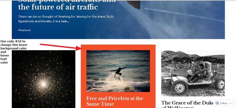the Rebalance Theme by Automattic homepage post modification