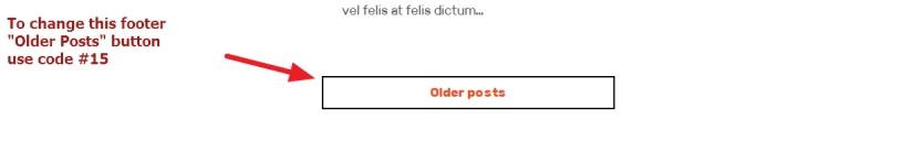 the Rebalance Theme by Automattic older post button modification