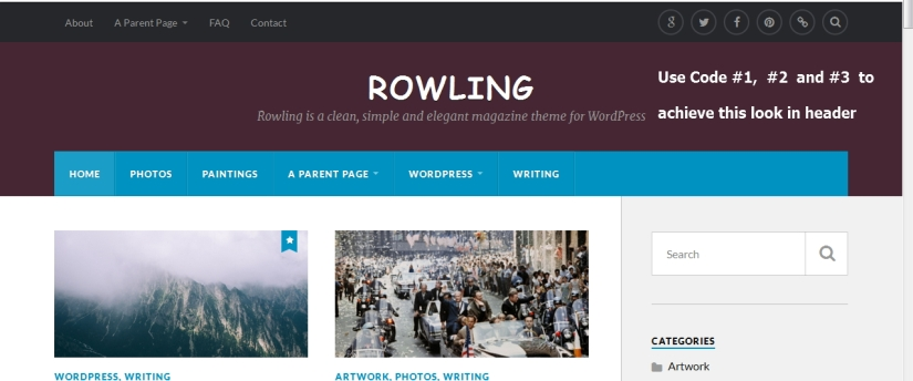 The Rowling Theme by Anders Norén Header Modification