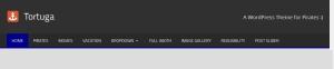 Tortuga By ThemeZee menu style Modifications