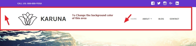 theme karuna header background color modification