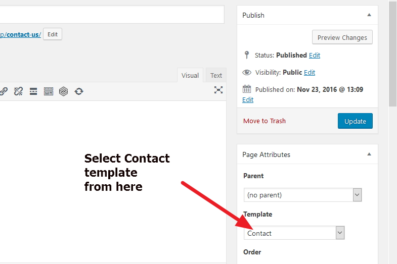 Avada theme creating contact page