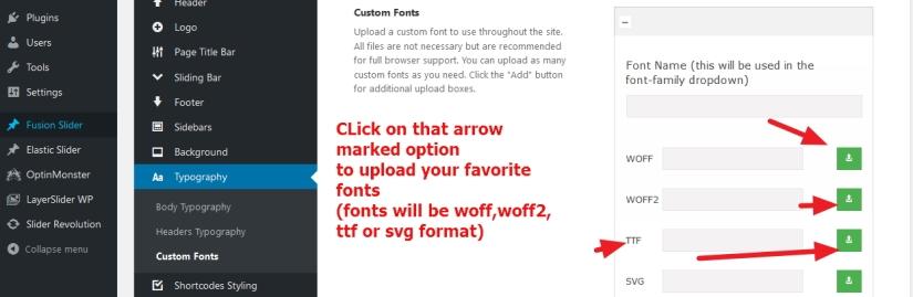 avada theme custom font installation