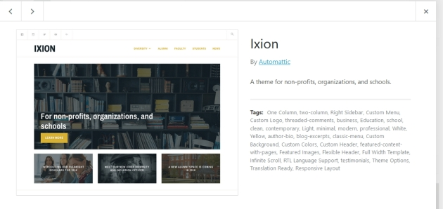 Wordpress Ixion theme customization