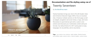 twenty seventeen documentation
