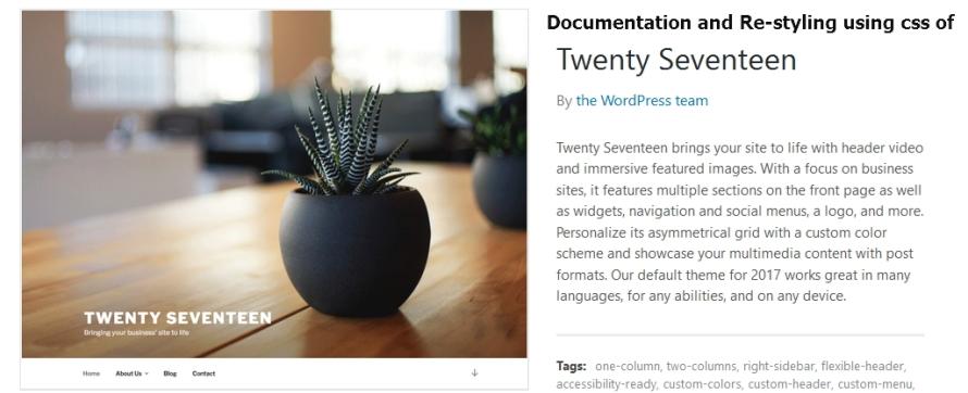 twenty seventeen documentation