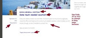 theme dara blog page modification