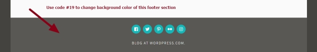 Theme Dara footer social icons section background