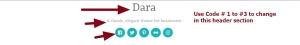 Theme Dara by automattic header modifications