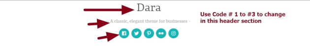Theme Dara by automattic header modifications