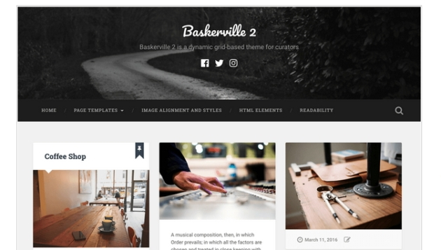 Theme baskerville documentation and modification