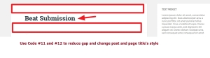 Post and page title modification and gap reduce