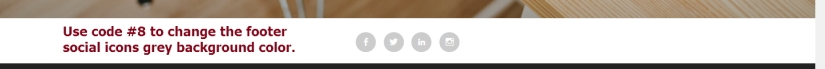 Theme Lodestar footer social icons background color change