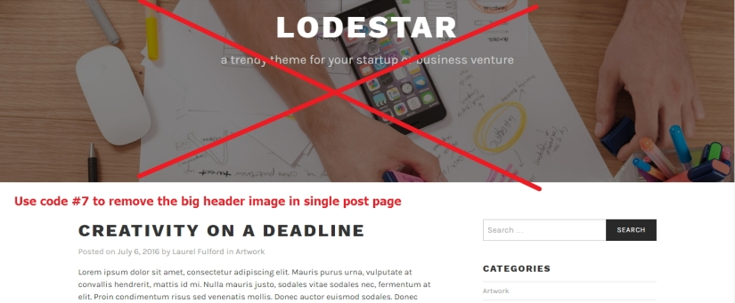 theme lodestar single post big header image remove