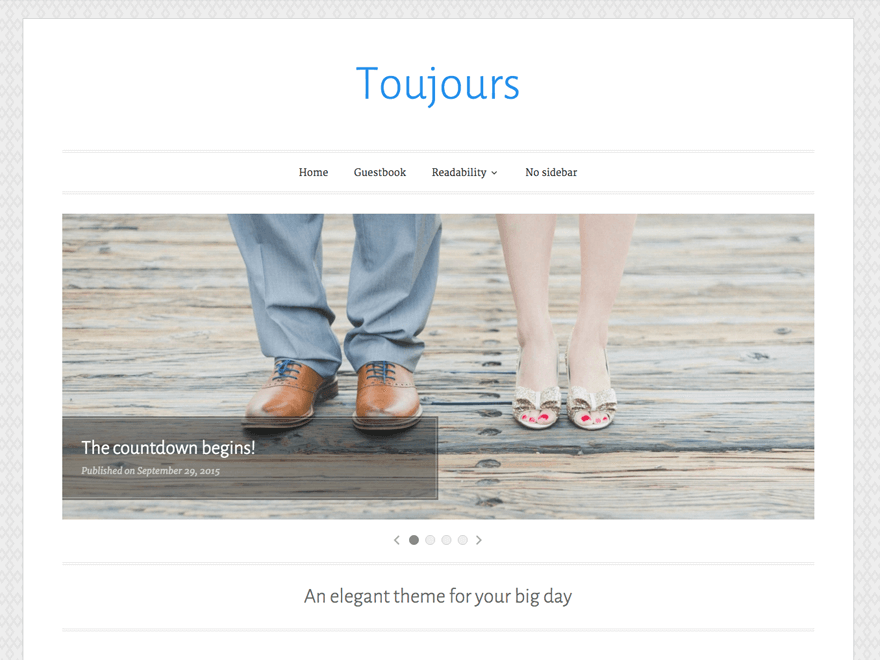 Create Website using Toujours theme