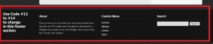 footer background modification using css