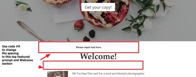 Homepage spacing reduce