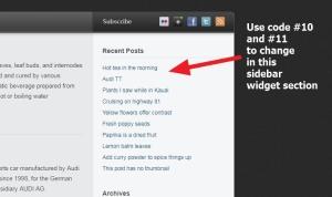 Sidebar widget link color ,hover color, font family change