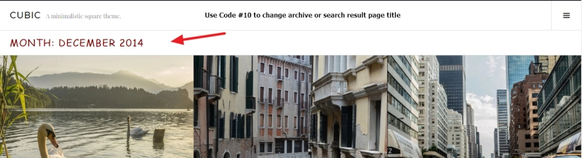 archive or search result page title font color size and font family