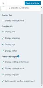 Hide or remove category tags author and show featured image
