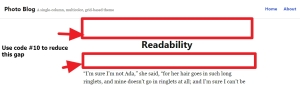 reduce gap above and below page title