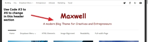 Maxwell By ThemeZee site title and site description styling and modification