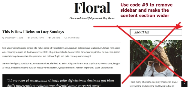 Floral theme by eLightUp full width single post