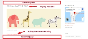 Blog page modification -- Post title Continuous Reading and gap removing