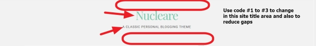Nucleare By CrestaProject top header site title area modifications