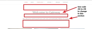 Gateway By Rescue Themes Homepage welcome text sectin modification