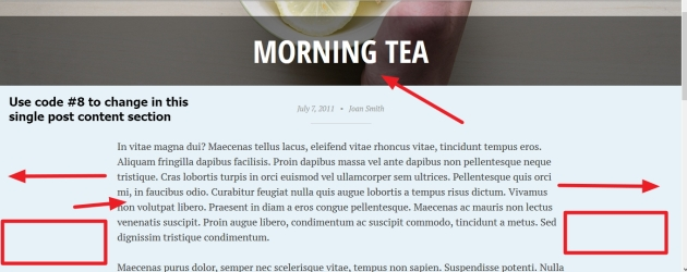 pictorico by automattic grid single post content section modifications