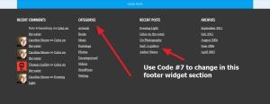 pictorico by automattic widget section modification