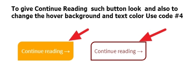 Continue Reading button button look and text and hover background and color change