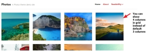 photos theme by automattic column number in grid
