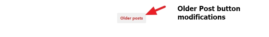 photos theme by automattic Older Post button modifications