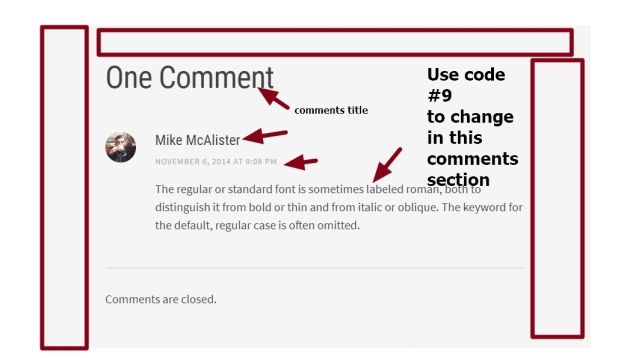 theme Editor by Array comments section modifications