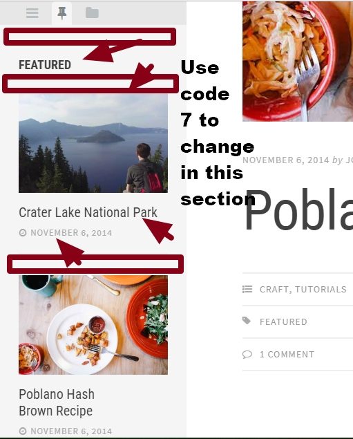 theme Editor by Array Tabbed sidebar featured post widget section modification