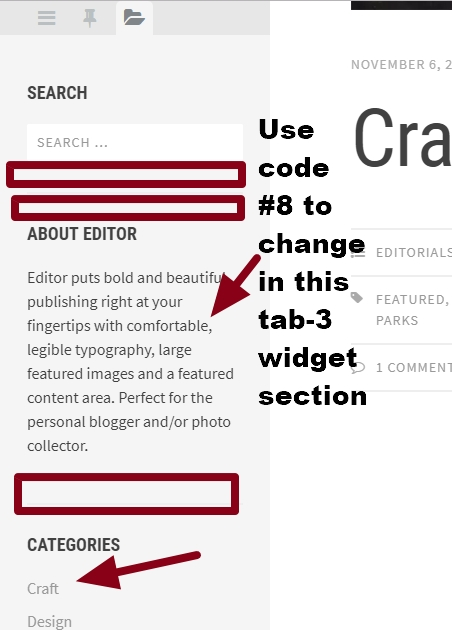 theme Editor by Array Tabbed sidebar widget section modification