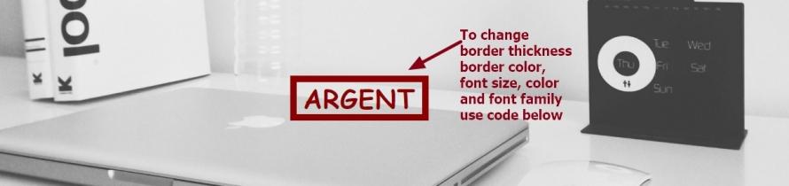 Theme Argent by Automattic site title border font size color and font family change