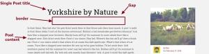 Lens By Pro Theme Design Single Post section title contents modification