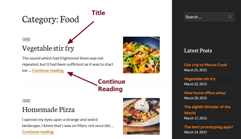 theme publication by automattic archive tag category search page posts modification